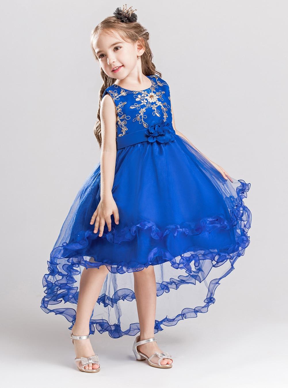 Mint Green Short Front Long Back High Low Flower Girls Junior Wedding  Dresses Kids Tailing Pageant. sku  32899199243 f769f66d0b73