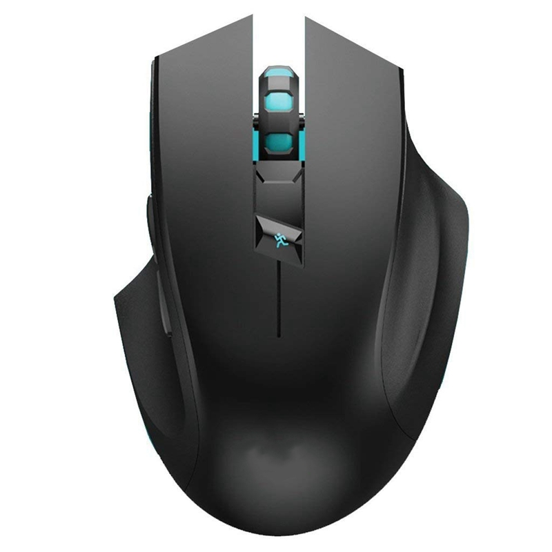 Ergonomic Right Hand Design Noiseless Button Precise Positing Optical Wireless Gaming Mouse(China)