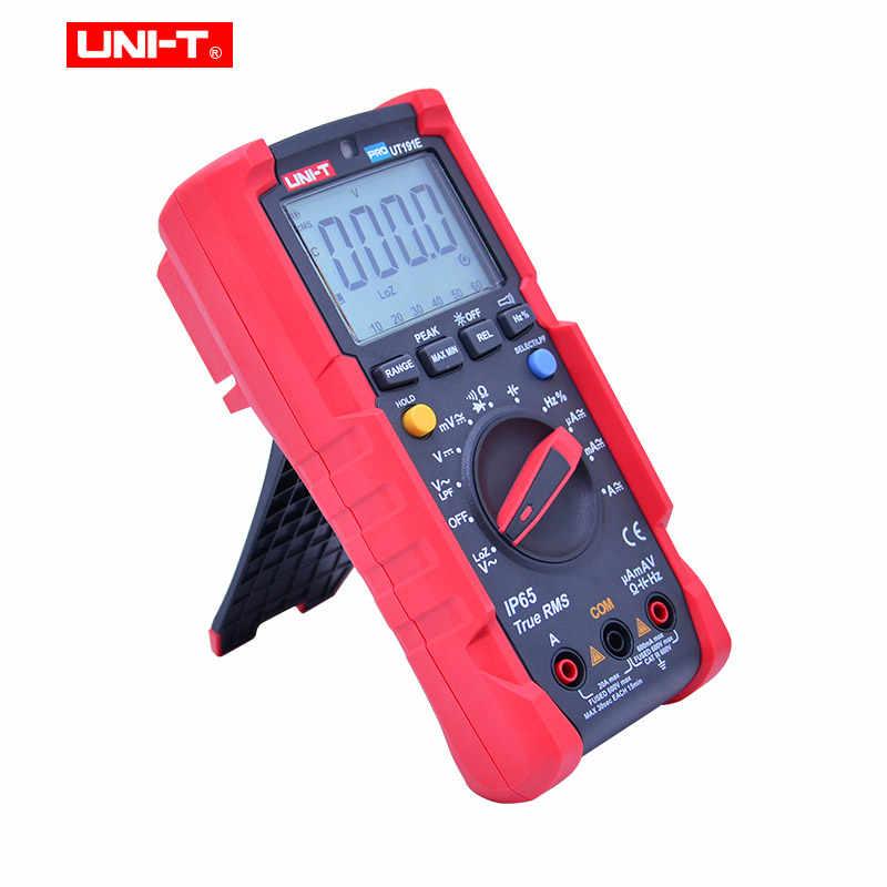 UT191E/UT191T 전문 디지털 멀티 미터, True RMS IP65 방수, 6000 카운트 DMM 20A 전류계 600V 볼트 ACV LOZ LPF 테스터