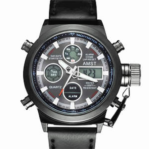 AMST Mens Watches Military Top-Brand Waterproof Luxury Quartz Strap Masculino Relogio