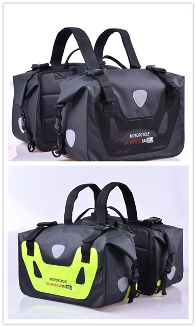 High Quality Motorcycle Racing Safety Outdoor Riding Large Package Reflective Warning Luggage Tail Bag Saddle Bag 100% Waterproo duhan motorcycle waterproof saddle bags riding travel luggage moto racing tool tail bags black multifunction side bag 1 pair