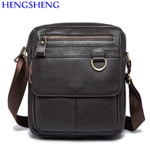 Hengsheng Hot sale vintage genuine leather men shoulder bags with cow leather men messenger for fashioni men single shoulder bag