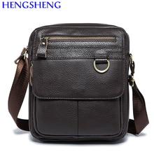 Hengsheng Hot sale vintage genuine leather men shoulder bags with cow leather men messenger for fashioni