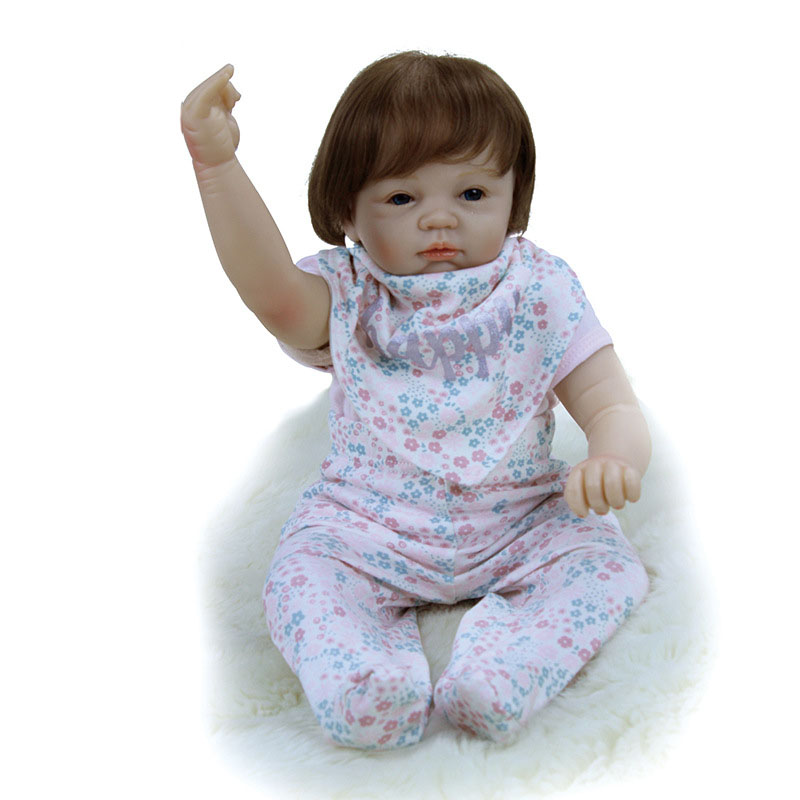 Reborn Baby Doll Realistic Silicone Alive Baby Doll With Rabbit Doll Bottle Magnetic Pacifier Gift For Children 53cm