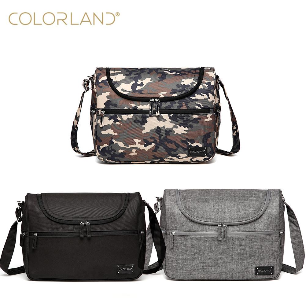 Colorland multifunctional large capacity single shoulder slanted across the hand holding bag holding the line