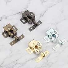 Hot 1Set Door Stop Closer Stoppers Damper Buffer Magnet Cabinet Catches With Screws For Wardrobe Hardware Furniture Fittings(China)