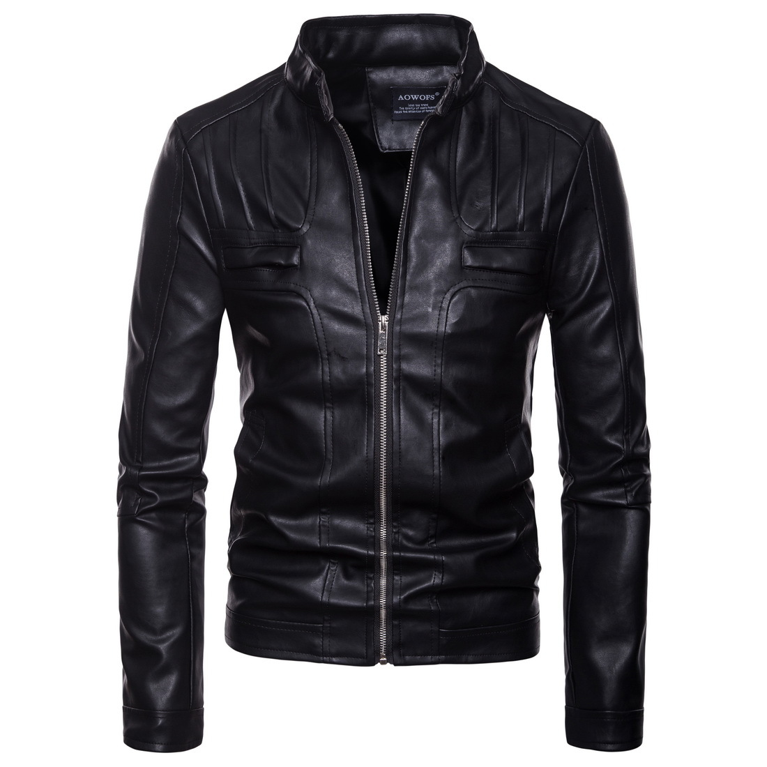 Men's Dropshipping High-grade Leather Jackets Fashion Motorcycle Biker Top Coat Men Outerwear Male Jacket Mens Brand Clothes