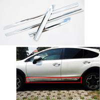 Car Styling Side Body Trim Decoration Trim For Subaru Xv 2012 2013 2014 Abs Chrome 4pcs