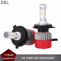 1Pair CSP 144W H4 LED HEADLIGHT CAR 12V 24V REPLACEMENT 6500K WHITE HEADLAMP 14400LM HI LO