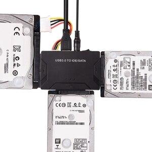 USB 3,0 до 2,5/3,5/5,25 IDE SATA адаптер жесткого диска HDD кабель конвертер ЕС вилка