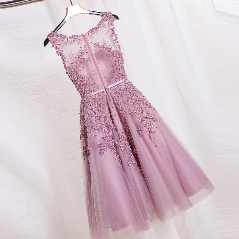 Haljina De Soiree 2019 nova čipka kratke večernje haljine Vez s - Haljina za posebne prigode - Foto 2