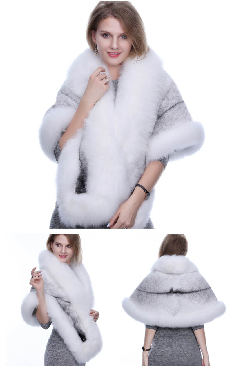 mink fur shawl fox fur trimmed (7)