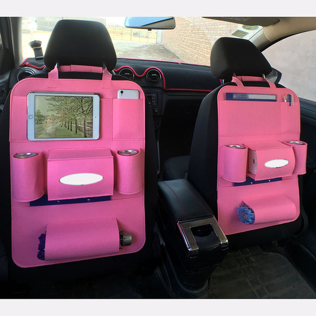 Car Back Seat Storage Bag Bottle Magazine Tissue Food Phone Automobile Organizer Cars Backseat Cover Multi-Pocket Holder M8617