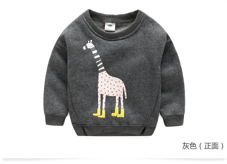 2018 Autumn Winter Warm 2-10 Years Old Children Long Sleeve Cartoon Animal Print Kids School Baby Handsome Boy Fleece Sweatshirt (12)