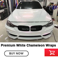 right White to red Chameleon Car Vinyl Film Wrap Car Body Sticker Decal Film Roll vinyl wrap chameleon No after sales worries