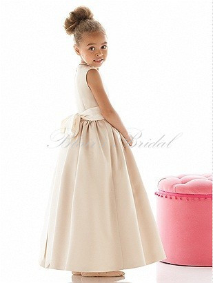 be7055f20 Empire High Waist Design Sleeveless A Line Gown Floor Length Style Light  Color Gold Flower Girl Dresses-in Flower Girl Dresses from Weddings &  Events on ...