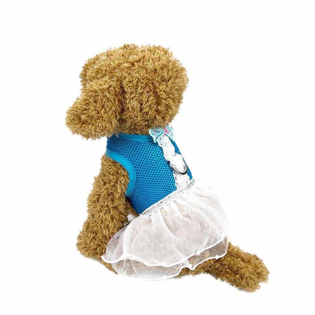 Transer собака платье Одежда для животных Светоотражающие дышащий оранжевое платье собачьи поводки нагрудный ремень Регулируемый Vestido Перро 19May7 P40