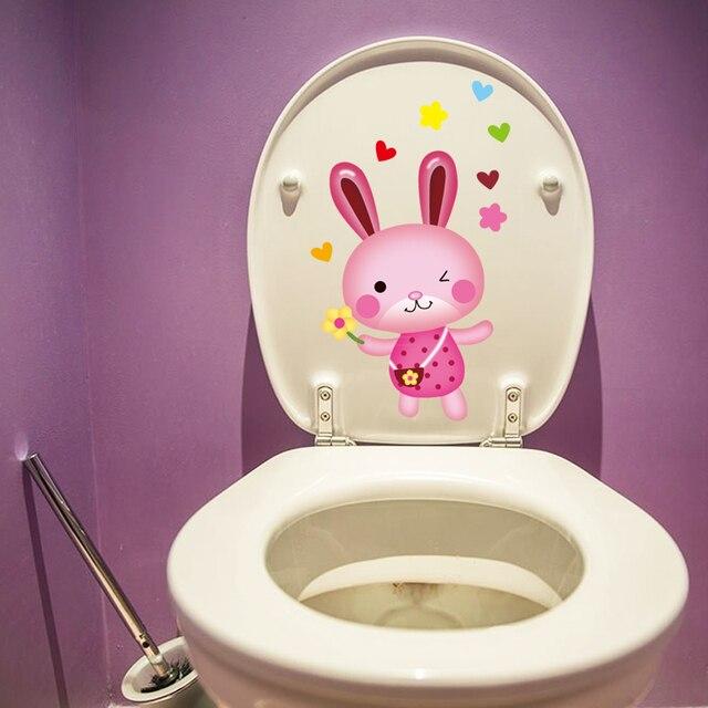 colorful pic toilet wall sticker untuk home decor dekorasi kamar
