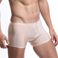 Mens Microfiber Boxer Shorts Seamless Breathable Panties High Quality Men Sheer Pouch Underwear Funny Underpants