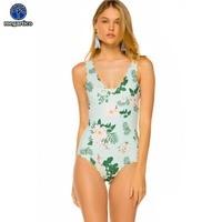 one piece swimsuit female Flower swimsuits large size xxl ruffle swimwear women big size push up monokini beach bathing swimming
