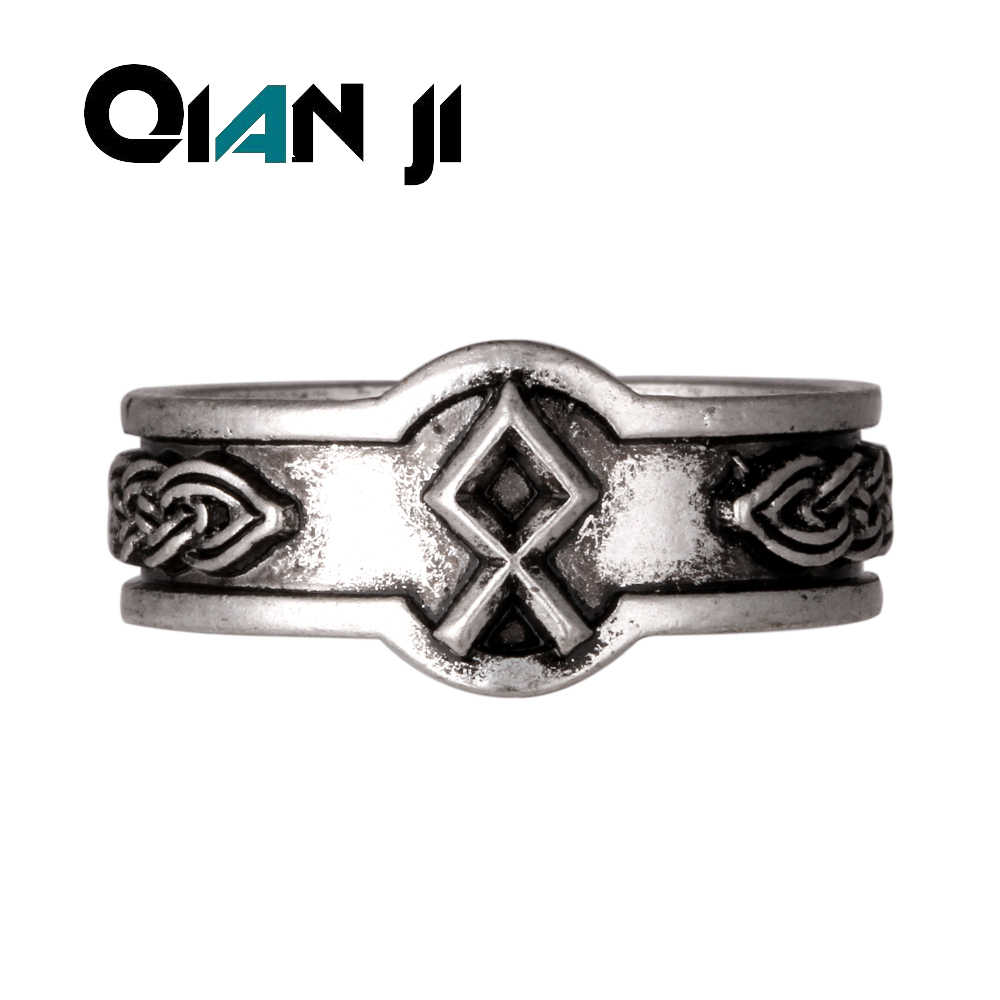 Futhark dagaz Ways Viking Rune Rings Nordic Alphabet Men Viking Ring Jewelry