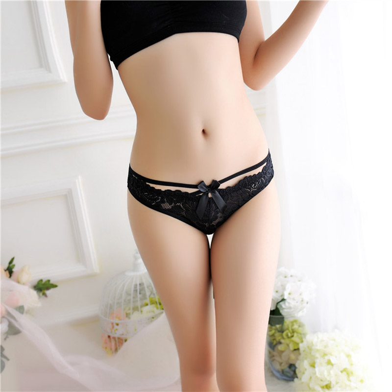 Buy 2018 Women's Lace Thong Comfort Sexy Panties Ladies Low Waist Female Charming G-Strings Thongs Underwear Briefs Lingerie