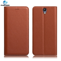 Original PHOPEER Luxury Vintage Genuine Leather Case For Lenovo Vibe S1 Mobile Phone Filp Cover Case
