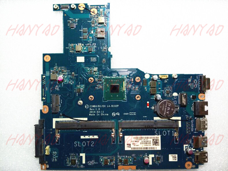 ZIWB0B1E0 LA-B102P For Lenovo B50-30 Laptop Motherboard With N3540 CPU DDR3L