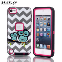 NEW Pattern Case For Ipod Touch 5 Luxury Brushed PC TPU Hard Cases Shockproof Back Cover