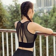 Women Gym Bra Sports Shirts Fitness Crop Top Seamless Padded Bra High Support Workout Vest Running Tank Tops недорого