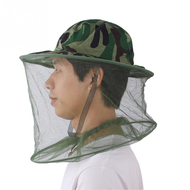 707befbeb6ec8 Outdoors mosquito fly Insect bee fishing mask face protect hat net  camouflage sunbonnet fishing hats big sunscreen bucket hat-in Bucket Hats  from Apparel ...