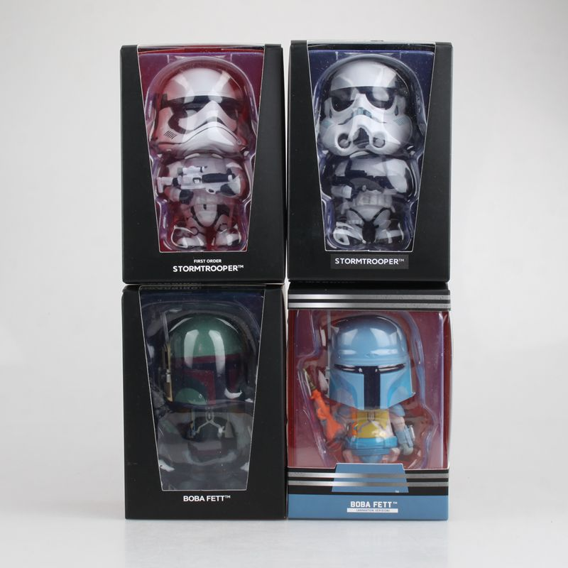 Image 2 - Car Ornament Cute Decoration Shaking Head Doll For Star Wars Stormtrooper Boba Fett Action Figure Auto Interior Bobblehead Toys-in Ornaments from Automobiles & Motorcycles