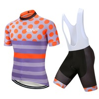 Team CAWANFLY Purple Color Maillot Ciclismo Riding Clothes Short Sleeve Summer Men Outdoor Bike Clothes Bib