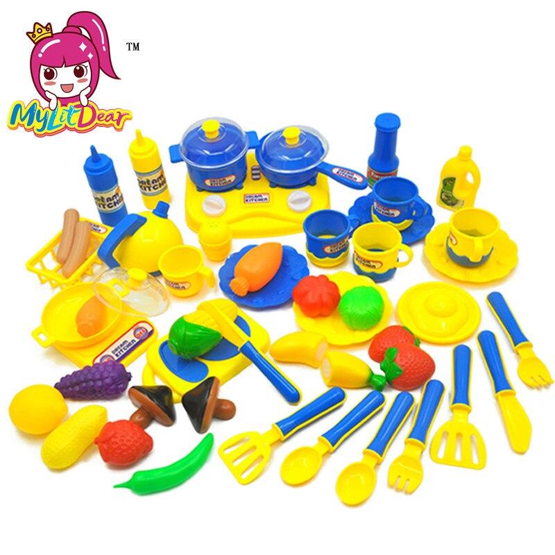 2 Kleuren Kinderen Keuken Speelgoed Voor Meisjes Koken Speelgoed Kids Fantasiespel Sets Speelgoed Speelhuis Servies Baby Fantasiespel Keuken Goederen Van Elke Beschrijving Zijn Beschikbaar