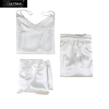 LilySilk Silk Camisole Set 3pcs Pijama Women Feminino Pure 100 Silk 22 momme Luxury Natural Women's Clothing Free Shipping 1