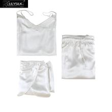 LilySilk Silk Camisole Set 3pcs Pijama Women Feminino Pure 100 Silk 22 momme Luxury Natural Women's Clothing Free Shipping