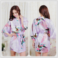 Silk Bathrobe Women Satin Kimono Robes For Women Floral Robes Bridesmaids Long Kimono Robe Bride Silk Robe Dressing Gown