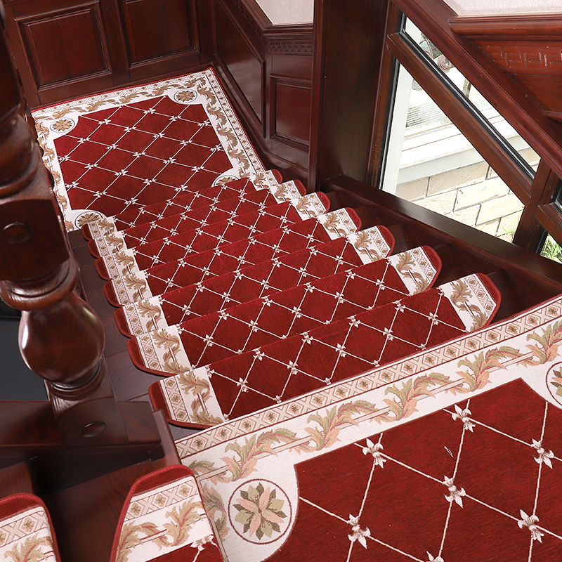 European solid wood stair step mat Non-slip carpet stair mat from plastic self-adhesive home living room bedroom mat