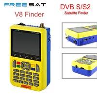 [Oryginalna] V8 Freesat Finder DVB-S/S2 Wysokiej Rozdzielczości Wsparcie 1080 P MPEG-4 HD Z 3.5 cal LCD Wyświetlacz Sygnału Satelitarnego wyszukiwarka