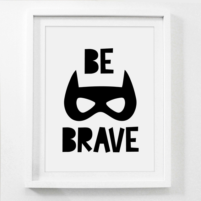 Nordic Style Superhero Batman Canvas Painting Wall Picture , Superhero Quote Canvas Art Print Boys Room Decor Wall Art Poster 5