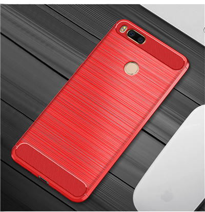 For xiaomi mi a1 case Carbon Fiber Protective TPU Silicone Back Cover For Xiaomi Mi5X Mi 5X MiA1 4GB 32GB 64GB