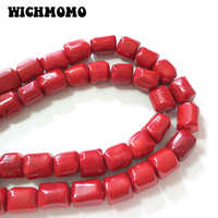 2019 New 17*15MM 5pieces/bag Red Coral Cylindrical Beads for DIY Earrings Bracelet Jewelry Accessories