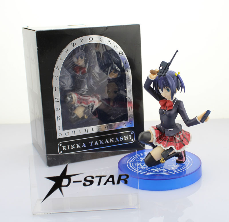 Free Shipping 8 Chuunibyou demo Koi ga Shitai! Takanashi Rikka Boxed 21cm PVC Anime Action Figure Model Collection Toy Gift free shipping 7 anime super sonico with macaroon tower boxed 17cm pvc action figure collection model doll toy gift
