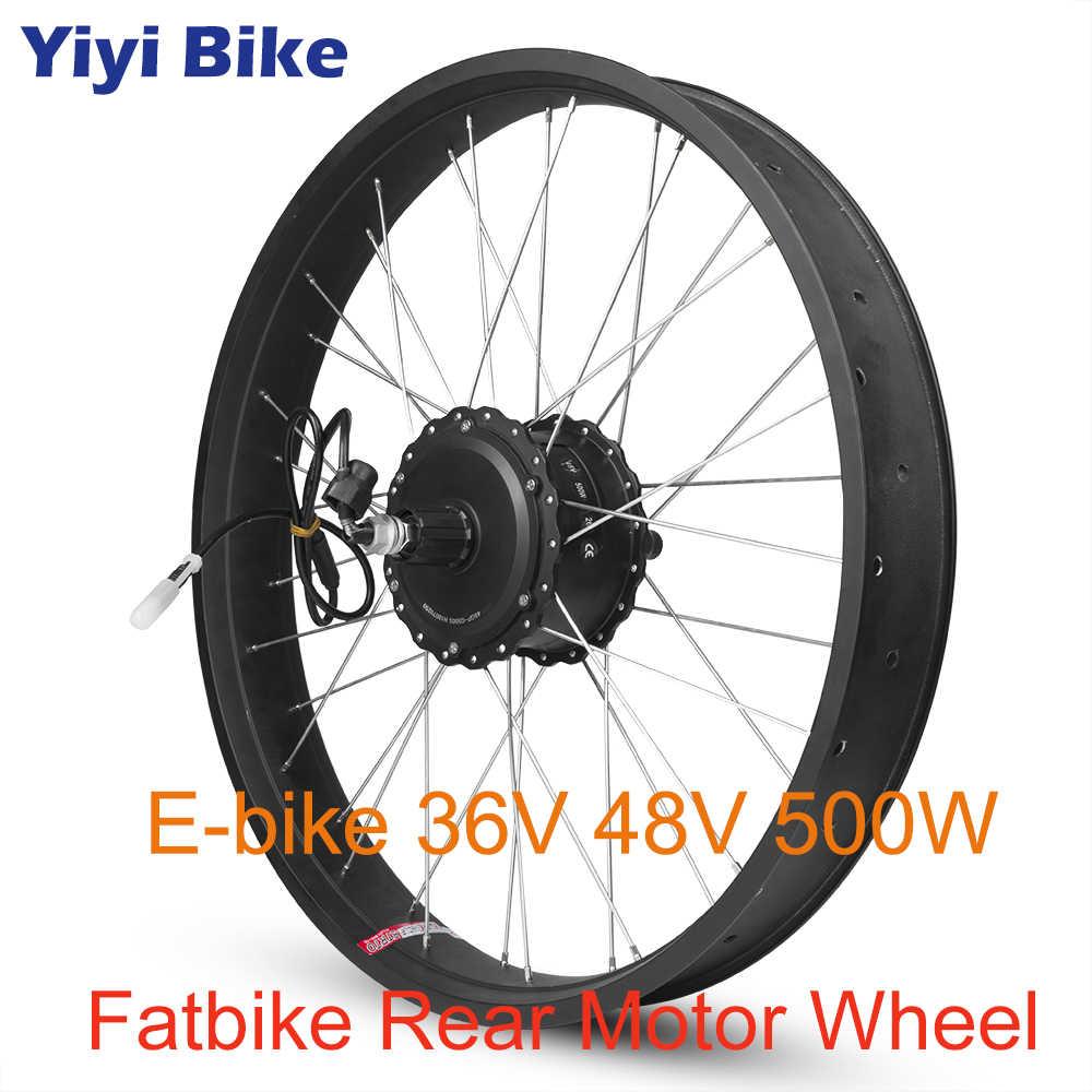 36V 48V 500W gruby rower zestaw do konwersji roweru elektrycznego silnik bldc kaseta śruba 20 26 cal 700C tylny MotorWheel napęd bezpośredni silnik