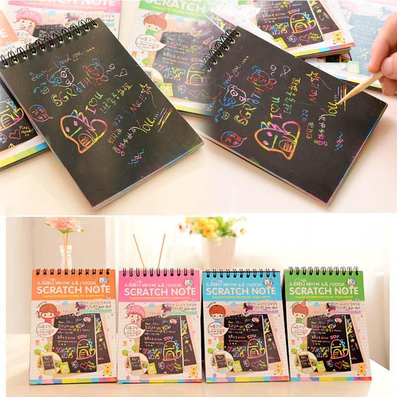 Kids-Stationery-Notebook-Scratch-Journal-Wooden-Stylus-Scratch-Paper-Note-Drawing-Educational-Toys-Random-Color-Z322-F-2