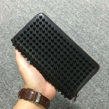 2019 Top Rushed Genuine Leather Unisex Business European And American Leather Wallet For Edge Rivet Zipper Hand Bag Male Female