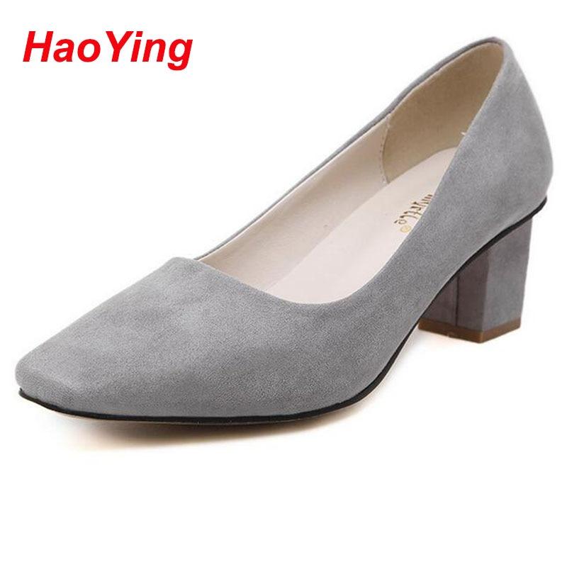 Women Low Heel Shoes Ladies Pumps Women Chunky Heels