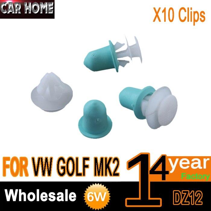 x10 FOR VW GOLF MK2 DOOR MOULDING TRIM STRIP CLIPS RUBSTRIP 191853585A|trim clips|clip trimvw door trim clips - AliExpress
