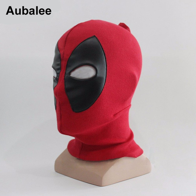 Aubalee New Cool Deadpool Mask Superhero Cosplay Costume Adult Halloween Party Hats X-men Death Rib Fabrics Full Face Masks