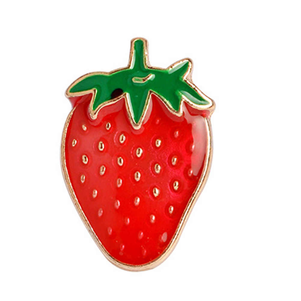 Terbaik Strawberry Semangka Kiwi Apple Orange Pine Apple Bros Pin Tombol Pesona Sederhana Barang Asli